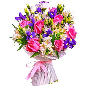 Прекрасный букет +30% цветов с доставкой в Ельце
