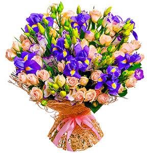 Дизайнерский букет +30% цветов с доставкой в Ельце